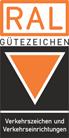 Logo: RAL Gütezeichen - Güteschutzgemeinschaft Verkehrszeichen und Verkehrseinrichtungen e.V.